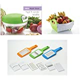 Konvex Mini Multi Veg. Slicer With FreeKonvex Kitchen Box 6 In 1 Woderful Products With Free Konvex Fruit & Veg. Basket