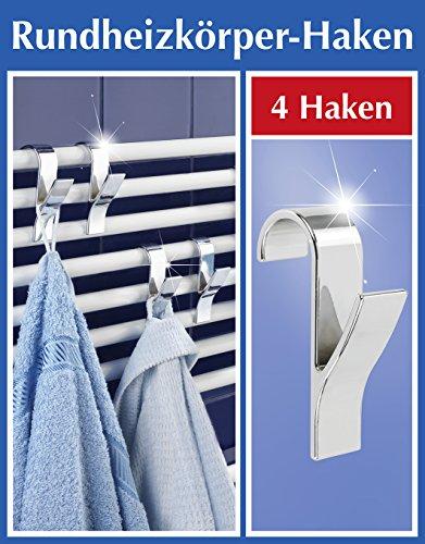 confronta il prezzo Wenko 81912500 - Set di 4 appendini per termoarredo, in plastica ABS cromata, 2,5 x 10,5 x 7 cm miglior prezzo