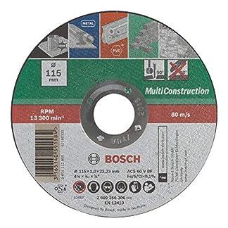 BOSCH 2609256306 – Disco multiuso, 115 mm x 1 mm, recto