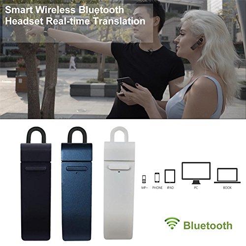 Drahtloser tragbarer Kopfhörer, Smart Translator, Bluetooth-Gerät, Echtzeit-Übersetzung, IOS, unterstützt 16 Sprachen u.a. Englisch, Chinesisch, Französisch, Spanisch und Japanisch (Lkw-alarm-system)