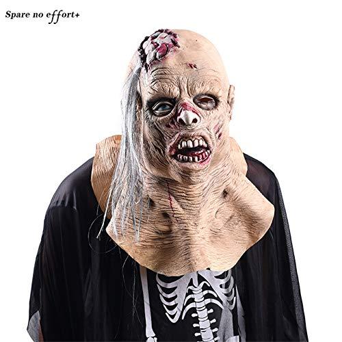 WSJDE Erschrecken Sie Rot Halloween Mask Mascara Hallowen gruselige Halloween Party Requisiten Halloween Scary Maske Zombie Maske Mascaras De Terror (Escape Party 2019 Halloween)