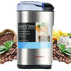 Elektrische Kaffeemühle zum mahlen von Kaffeebohnen Nüssen Gewürzen und Getreide mit Edelstahlmessern