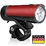 IDESION KINGTOP Fahrradbeleuchtung Fahrradlichter LED StVZO Zugelassen 50 Lux LED Fahrrad Vorderlicht USB Wiederaufladbar, Wasserdicht IPX-4, Rot