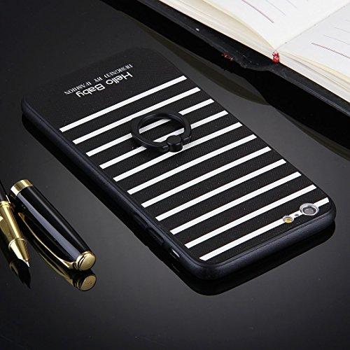 Phone case & Hülle Für iPhone 6 Plus / 6s Plus, geprägter weißer Hintergrund Musikinstrumente Muster TPU Stoßfänger Rahmen PC Schutzmaßnahmen Rückseiten Fall Fall mit Ring Halter Stand ( SKU : Ip6p103 Ip6p1031e