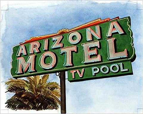 Photographic Print of Arizona Motel on 6th Avenue, 2004 (w/c on paper)