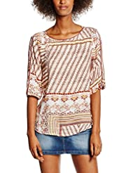 edc by ESPRIT Damen Bluse Boat Neck Bl