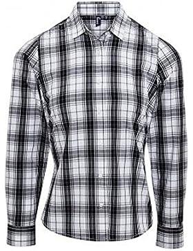 Premier Camisa a Cuadros de Manga Larga Modelo Ginmill Para Mujer