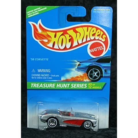 Hot Wheels 1996 Collector #436 '58 Corvette Treasure Hunt 9 1/64 by Hot Wheels - 1996 Corvette