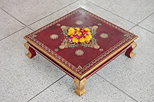 Handpainted wooden Chauki ,bajot