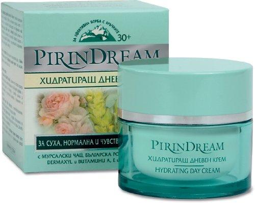 Pirin Dream Crème anti-rides hydratante de jour Effet lissant et raffermissant Igname sauvage et dermaxyl Non testée sur les animaux 50 ml
