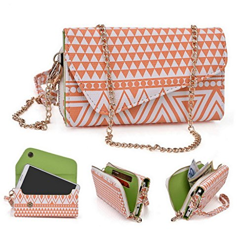 Kroo Pochette/étui style tribal urbain pour SHUKAN A115/Millennia Epic Q550 Multicolore - Noir/blanc Multicolore - White and Orange