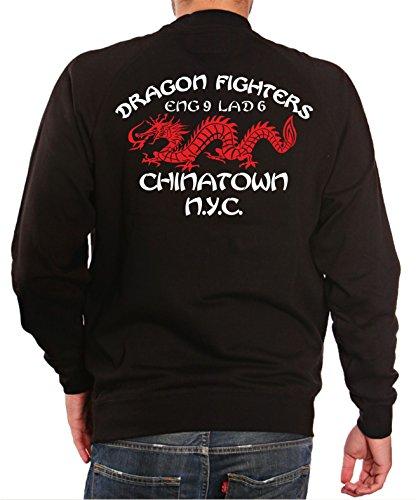 Sweat Black, Dragon Fighters - Chanatown Engine 9 Ladder 6 New Yorker Feuerwehr -
