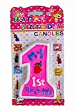 Toyshine No. 1 Birthday Candle for Cake ...