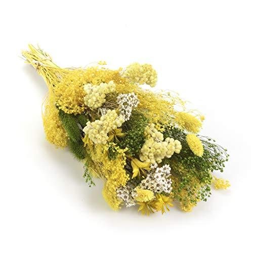 Bouquet-verticale-sanremo fiori essiccati dalla riviera dei fiori - realizzato a mano (colore giallo)