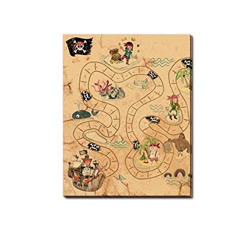 ZKARTE * zum Piraten - Kindergeburtstag, Mottoparty und Geocaching | Kinder Geburtstag Party Deko Table Cover Freibeuter Insel Pirat ()