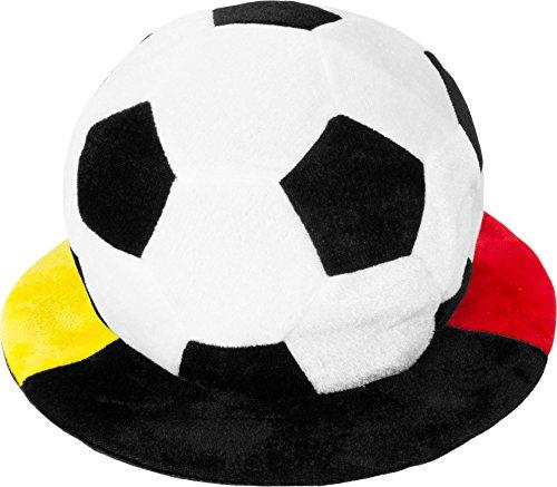 normani 1, 2, 5 oder 10 Deutschland Fußball Mütze Schlapphut mit Krempe Fußballhut in Deutschlandsfarben Farbe 1 Stück -