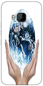 Snoogg Earth Globe Designer Protective Back Case Cover For HTC M9