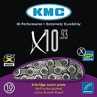 KMC X-10-93 Cadena Estrecha, Unisex Adulto, Gris, 114 eslabones