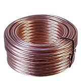 Misterhifi kabel, hifi-zubehör & mehr / 50 m Lautsprecherkabel 2 x 4,0 mm², transparent isoliert, 99,99% OFC Kupfer Litze: 2 x 132 x 0,2 mm