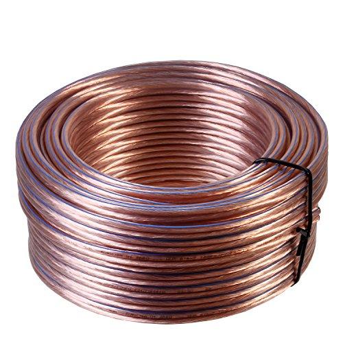 Misterhifi kabel, hifi--zubehör & mehr 100 m Lautsprecherkabel 2 x 4,0 mm², Litze: 2 x 132 x 0,2 mm, transparent isoliert, 99,99 % OFC Kupferkabel, Made in Germany, Boxenkabel / Audiokabel für Lautsprecher und Heimkino