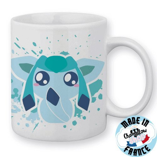 Mug Givrali / Glaceon (Pokemon) Chibi et Kawaii by Fluffy Chamalow - Fabriqué en France - Chamalow Shop