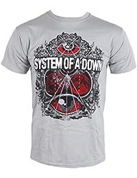 System of a Down Herren Band T-Shirt - Mathematics Grau