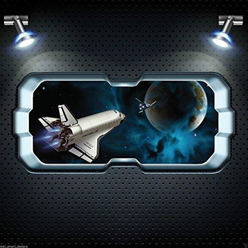 Puzzle Farbkarte (3D Puzzle Volle Farbe Raum Sterne Planet Wandkunst Sticker Abziehbild Schlafzimmer Grafik - Grau Glanz, Klein)