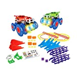 LouiseEvel215 Monster Stunt Rail Car varietà Track Car Attraverso Tunnel Grotta Giocattolo educativo per Bambini Regalo Modello di Auto