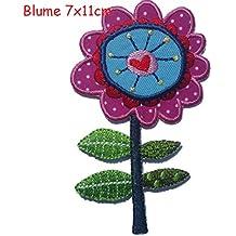 2parches para planchar Set flor 7x 11y caballitos de mar 5x 11–bordado Tela apliques por TrickyBoo diseño Zurich