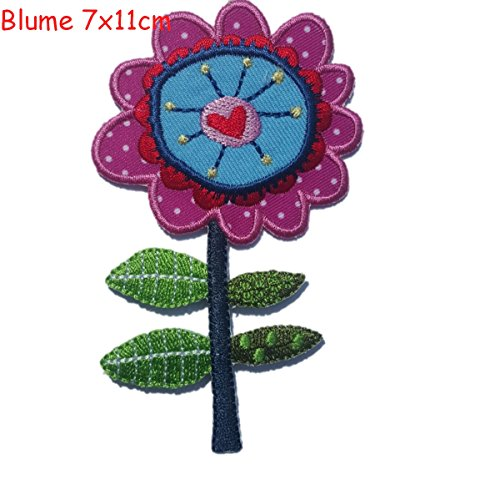 2-iron-on-patches-set-flower-7x11-and-crocodile-9x3-embroidery-fabric-appliques-by-trickyboo-design-