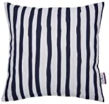 TOM TAILOR 564399 T-Maritime Stripes Kissenhülle, Baumwolle, weiß/Blau, 40 x 40 cm