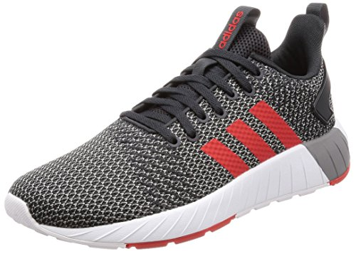 adidas Herren Questar BYD Sneaker, Grau (Carbon/Core Red/Grey Three), 42 EU (Top-herren-tennis-schuhe)