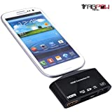 Galaxy S5 HDMI Adapter, TabPow 5 in 1 MHL To HDMI Adapter HDMI Connection Kit USB OTG SD TF Card Reader For Samsung Galaxy S5 S4 S3 / Samsung Galaxy Note 3 2 1 / Sony L39h / LG Optimus / HTC One