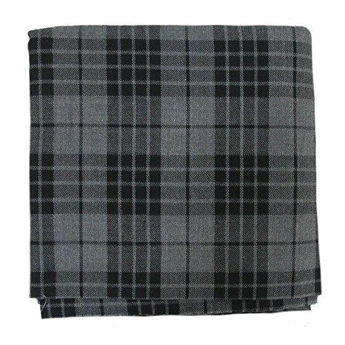 Tartanista - Tissu pour plaid - motif tartan - 269 x 134,5 cm (106' x 53') - gris granite - 268 x 135 cm
