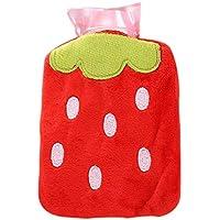 Toruiwa mini Wärmflasche Bettflasche mit Bezug Wärmflaschenbezug aus PVC mit Plüsch Fruchtmuster Abdeckung für... preisvergleich bei billige-tabletten.eu