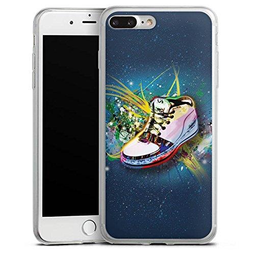 Apple iPhone 8 Slim Case Silikon Hülle Schutzhülle Schuhe Sneaker Muster Silikon Slim Case transparent