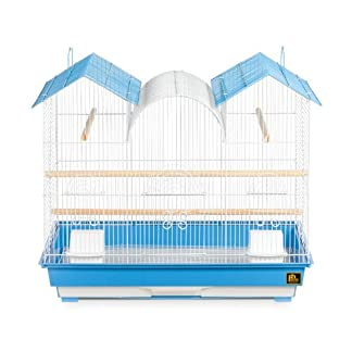 Prevue Hendryx Triple Roof Cockatiel Cage, Blue and White 7