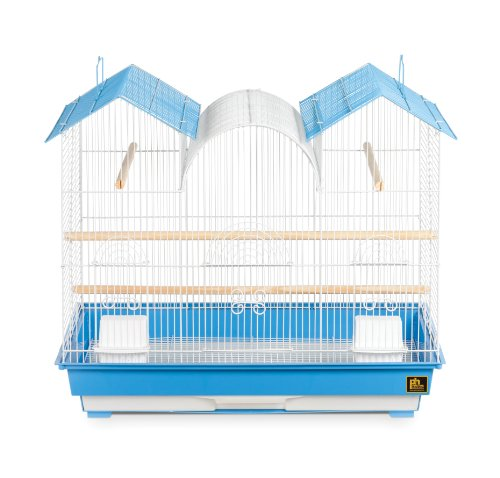 Prevue Hendryx Triple Roof Cockatiel Cage, Blue and White 1