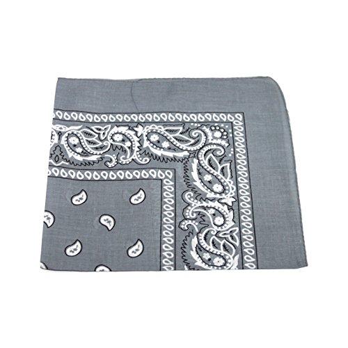 mens-womens-bandana-head-or-neck-scarves-paisley-pattern-100-cotton-gray