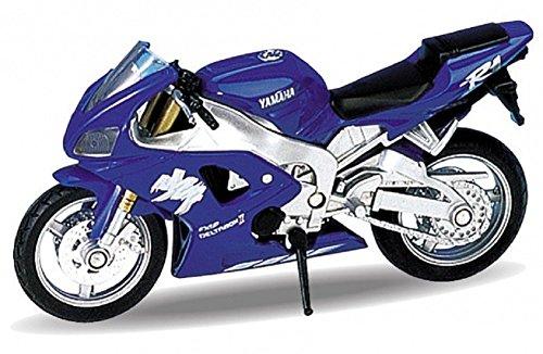 DieCast Modell Motorrad 1999 YAMAHA YZF-R1 blau metall Welly Motorradmodell 1:18