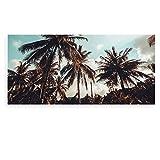 banjado - Scheibe zum Wechseln 56x26cm für Ikea Gyllen Leuchte Wandlampe Unter Palmen, Motivscheibe Wechselscheibe