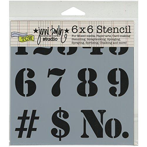 Crafters Workshop Kunststoff Vorlage 6x 6Nummer -