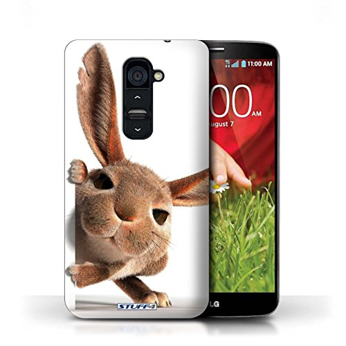 Kobalt® Imprimé Etui / Coque pour LG G2 / Chatonne surprise conception / Série Animaux comiques Petit lapin curieux