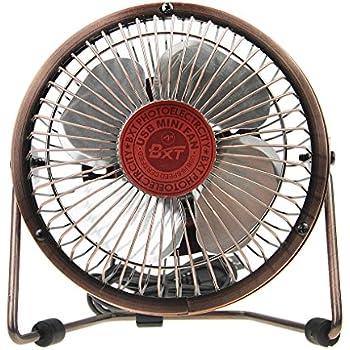 Bxt 4 Quot Antique Bronze Silent Usb Desktop Fan 360 Rotating