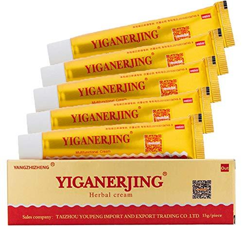 Antibakterielle Creme, 5 Pcs chinesische pflanzliche natürliche antibakterielle Salbe für Ekzeme, Psoriasis & Rosacea Care Cream von...