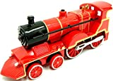 Steam Train Locomotive Train Die Cast Steam Train Toy Train with Sound & Light