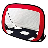 "VicPow Kids Portable Soccer Goal And Target Shot, Foldable Quick Pop Up Football Goal Net With Storage Bag-43.3""*31.5""*31.5""(LxWxH)"