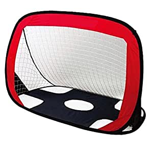"""Kids Portable Soccer Goal And Target Shot,VicPow Foldable Quick Pop Up Football Goal Net With Storage Bag-43.3""""*31.5""""*31.5""""(LxWxH)"""