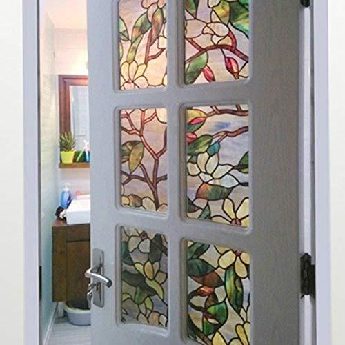 Magnolia Statische Fenster Folien 3 M Pvc Folien Glas Aufkleber Einfacher Stil Kleber Mattierte Fensteraufkleber Fensterfolie Landhaus Vintage Jugendstil Ornament ( Color : Colour , Size : Size )