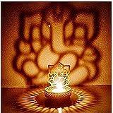 Heaven Decor Metal Divine Shadow Ganesh Tealight Candle Holder (1)